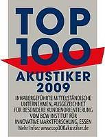Auszeichnung zum Top 100 Akustiker für das Jahr 2009