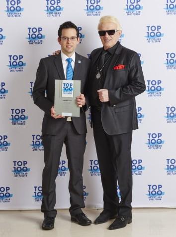 Top100 Akustiker-Auszeichnung 2017/2018 mit Schirmherrn Heino